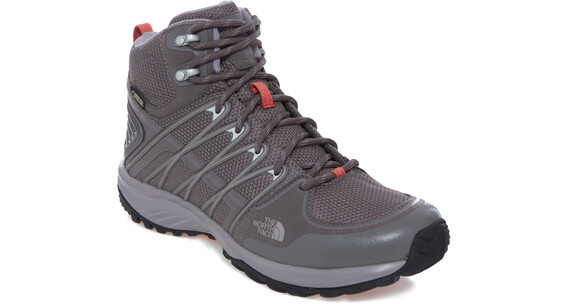 The North Face Litewave Explore Mid GTX Shoes Women dark gull grey/special coral